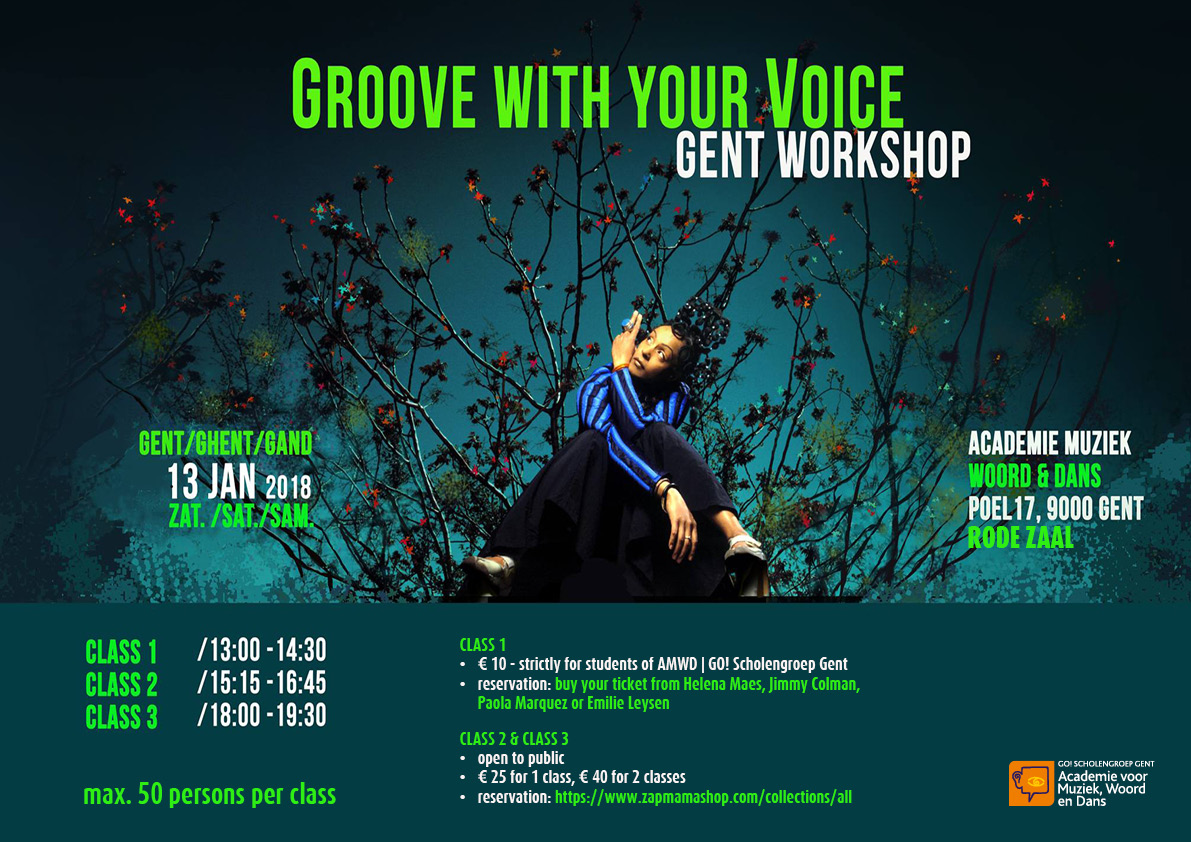Groove with your voice class 1: 13:00 - 14:30